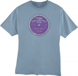Elmo James- Dust My Broom T-SHIRT- Stone Blue- DOUBLE EXTRA LARG