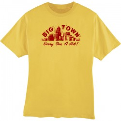 Big Town Records T-Shirt- Mustard- MEDIUM