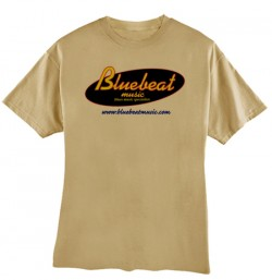 Bluebeat Music T-SHIRT- Tan  EXTRA LARGE